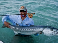 Captain Will with Barracuda in Turks and Caicos
